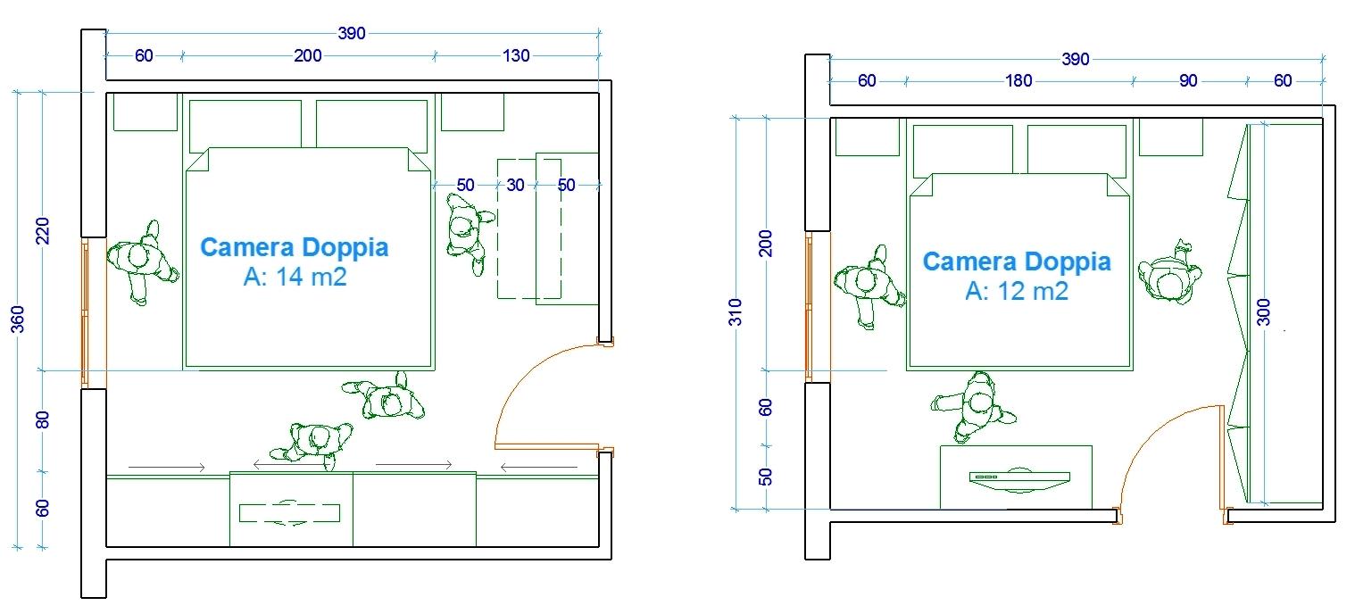 Camera A Ponte Misure.Le Misure Dell Uomo Nell Abitazione La Camera Da Letto Web
