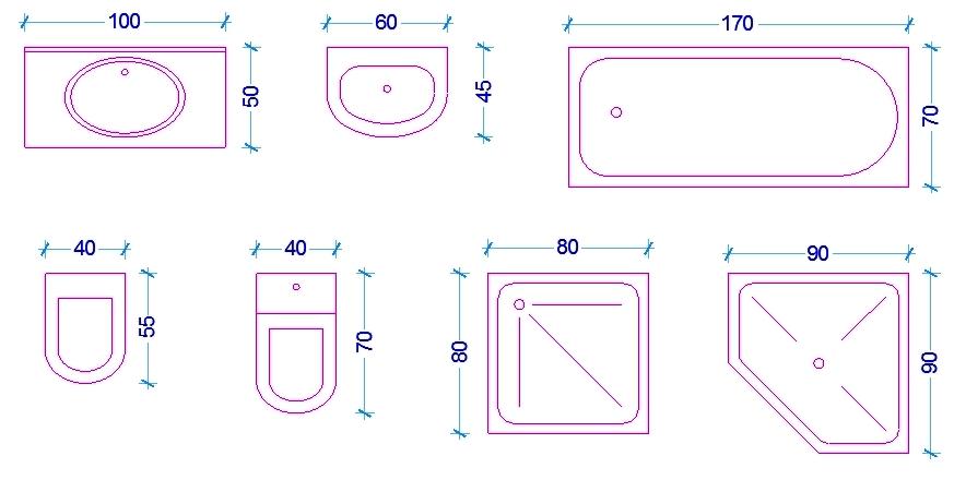Le misure dell\'uomo nell\'abitazione: Il bagno - Web ARCHITETTO