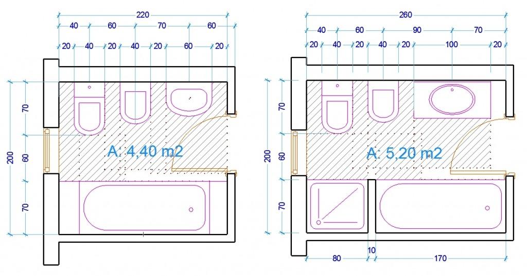 Le misure dell'uomo nell'abitazione: Il bagno - Web ARCHITETTO
